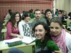 Estos son los componentes del grupo de Retórica que van a trabajar sobre la Escuela Flamenca.